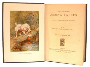 Aesop-fables-rare-Book-titlepage