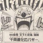【ワンピース】バギー再登場の警戒シグナル&再浮上しそうな2つの兵器について!