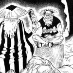 【ワンピース】クロッカスとシキが酒を酌み交わす場面、あるいは金獅子とワノ国の関連性!