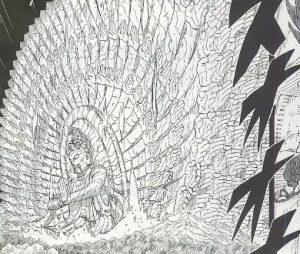 木遁・真数千手を使用しているナルトの千手柱間
