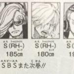【ワンピース】84巻SBS考察その2・VS兄弟の血液型とかについて!