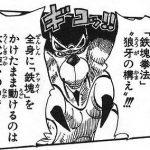 【ワンピース】鉄塊拳法・狼牙の構え考察、鉄塊したまま動けるジャブラ!